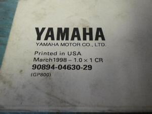 OEM-039-98-Yamaha-WaveRunner-GP-GP800-GP-800-Marine-Service-Guide