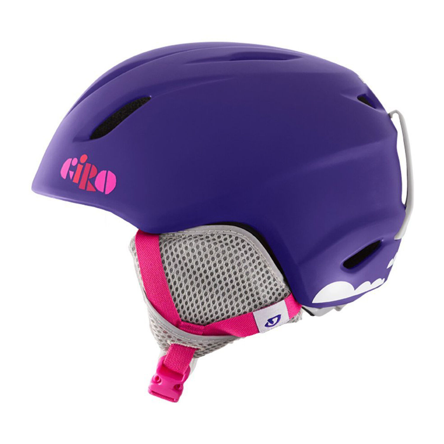 GIRO 2016 Youth Snowboard Snow Matte Purple Clouds LAUNCH HELMET