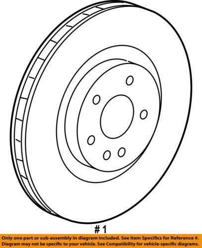 GM OEM Front Brake-Disc Rotor 92245928