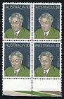 1975 Prime Minister J.A. Lyons Selvedge 1 Block of Four Stamp MUH Mint Australia