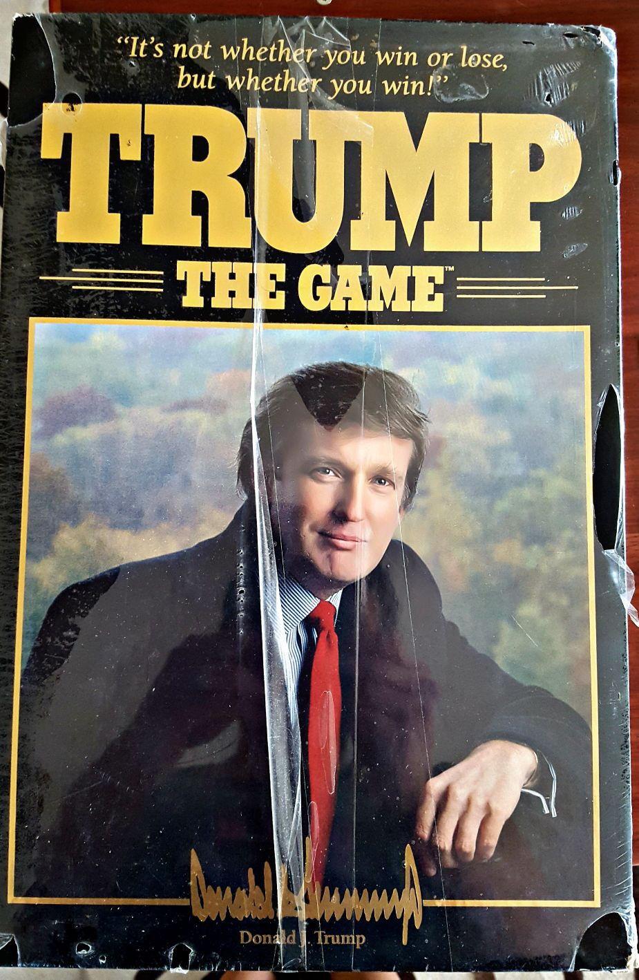 1989 Trump le plateau de jeu jeu Donald Trump Game Factory Sealed