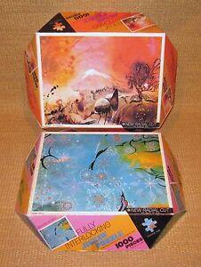 Whitman Guild | Futura Jigsaw Puzzle (x2) Snowflakes Oriental Wilderness 1000pc