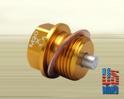 Gold M20 x 1.5 Magnetic Oil Pan Drain Plug Bolt+Washer for Subaru Impreza BRZ