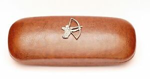 Archer Leather Effect PU Glasses  Case Bowman Archery Gift Present