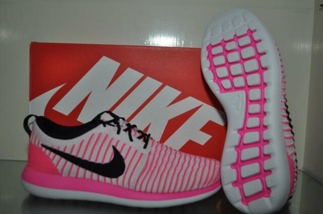 29d7f526268ce Nike Roshe Two Flyknit Girls Grade School Running Shoes 844620 600 Size 7y  NIB
