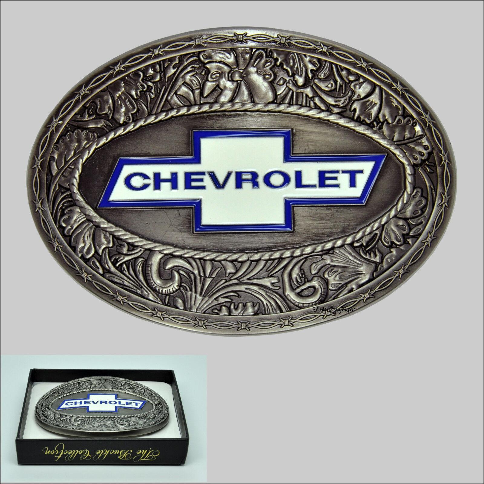 GM CHEVROLET Belt Buckle Chevy Logo Emblem Bowtie Lizenz Gürtelschnalle *620