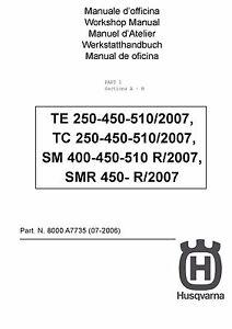 husqvarna smr 450 r full service repair manual 2007 2008
