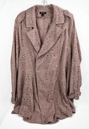 Women's TORRID Dusty Rose Lace Quartz Double Breas