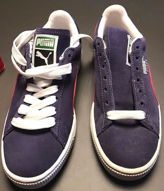 e0a28d866af0 PUMA Classic Crown Navy Blue   Red Suede SNEAKERS Women s Size 6 M ...