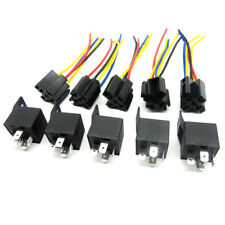 5pc Car High Capacity Alarm Automotive Relay Wires & Harness Socket Dc Pin Relay Wiring on