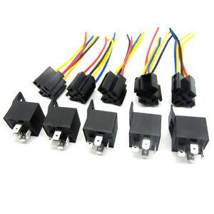 Details about 5Pcs DC 12V Car SPDT Automotive Relay 5 Pin 5 Wires w/Harness on