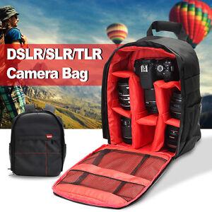 Waterproof Backpack DSLR Camera Shoulder Bag Case For Canon   Nikon ... 0c8ec52fab249