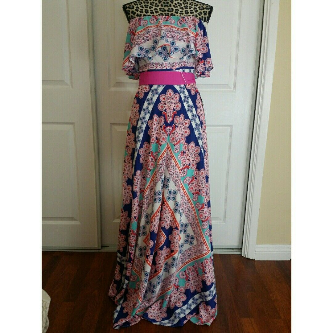 Elisa J Off The Shoulder Maxi Dress size 2