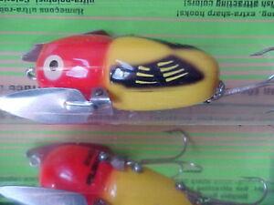 HEDDON Tiny Crazy Crawler 1/4oz Topwater Nite Lure X0320YRH Yellow Hornet - BASS