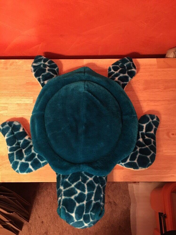 Large Plush blu Turtle Kids Room Decor 24  Wide 24  Deep Soft