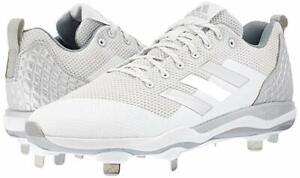 37f9f7f5b53 adidas Men s Power Alley 5 Low White Metal Baseball Cleats Mens US ...