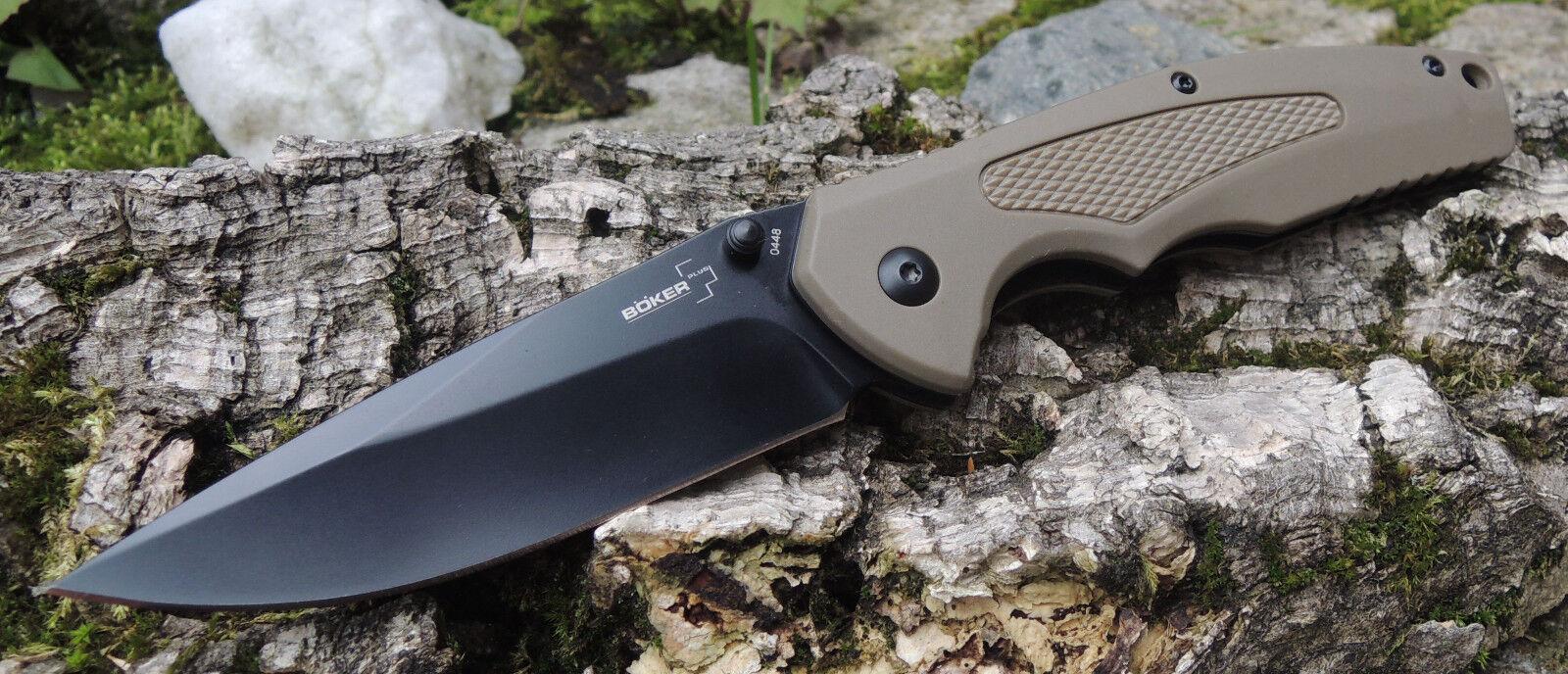 Böker Plus GEMINI NGA COYOTE Messer Taschenmesser VG10 Stahl FRN Griff 01BO501