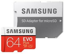 SAMSUNG 64 GB EVO Plus microSDXC UHS-I U1 100MB-s Full HD, SD-Adapter