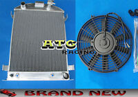 3 Core Aluminum Radiator For 1932 Ford Hi-boy Grill Shells Chevy Engine 32 & Fan