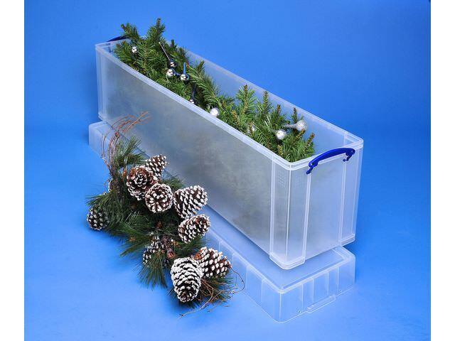 1 Really Useful Plastic Christmas Tree Storage Box / Plastic 77 Litre