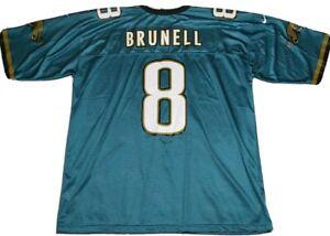 Vintage NFL Authentic Nike Jacksonville Jaguars Mark Brunell Jersey #8 Size 2XL
