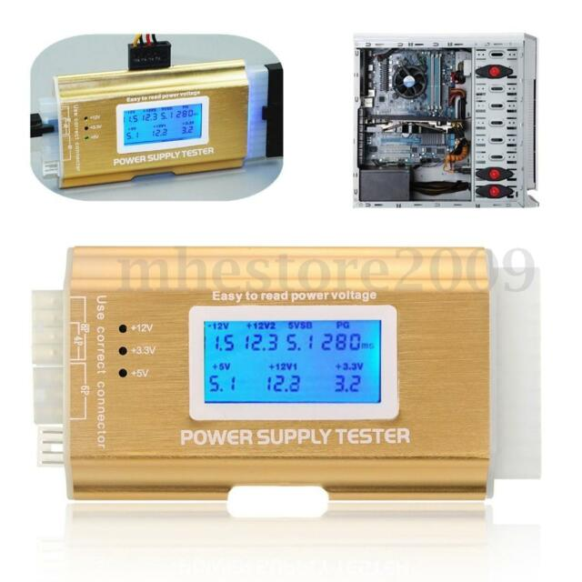 Digital PC Computer LCD 20/24 Pin 4 PSU ATX BTX ITX SATA HDD Power Supply Tester