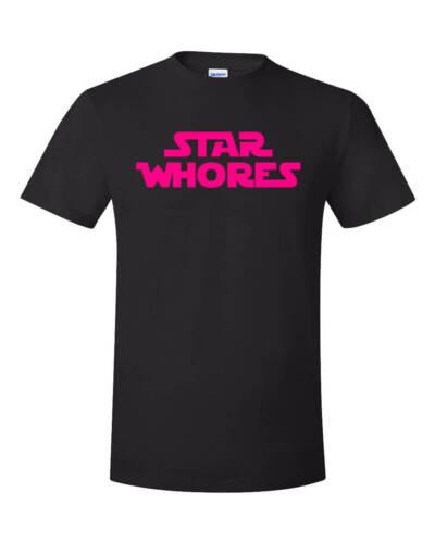 Stupide star wars parodie shirt star Whores Blague Drôle Sex Steel Panther Film