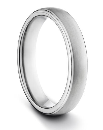 TungstenMasters 8MM//6MM//4MM TITANIUM Mens//Womens Matte Silver Wedding Band Ring