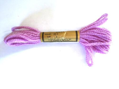 Needlepoint Yarn Paterna Paternayan Persian Wool #303 Lot 3 7.4 M 8 Yards 3 Ply