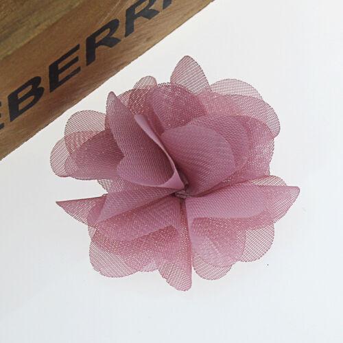 10pcs LACE Women Soft Chic Artifcial Fabric Chiffon Flower For Headband decorate