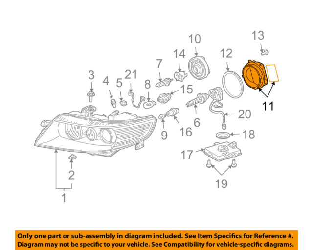 Genuine Acura 33127-SEP-A01 Headlight Cover
