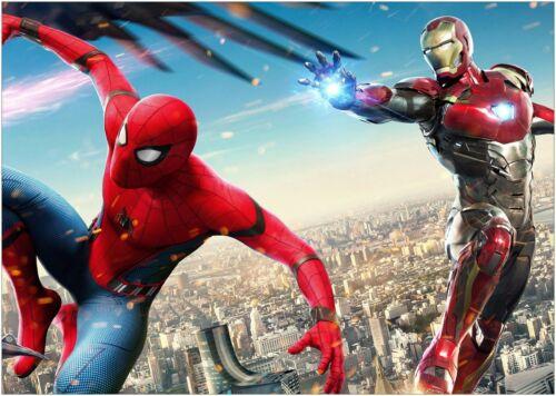 Iron Man Spider Man Movie Poster Art Print A1 A2 A3 A4 Maxi