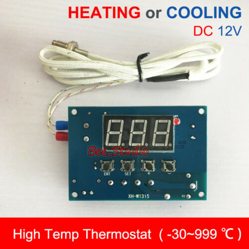 DC 12V High Temperature K-Thermocouple Digital Thermostat Temp Controller Switch