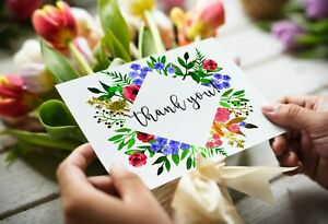 Pack of 20 Beautiful Thank You Postcards for Friends, Family, Notes 21 designs