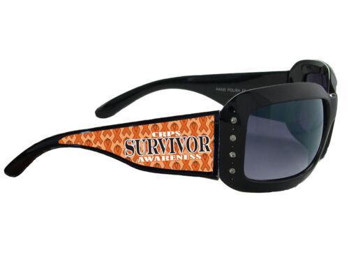 CRPS RSD Awareness Believe Orange Ribbon Black Womens Sunglasses Gift S5JT