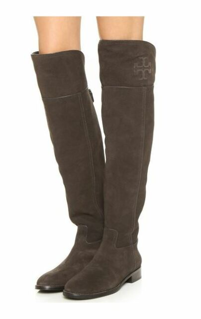 8729d42cae6b Buy Tory Burch Simone Over The Knee Cafe Brown Split Suede BOOTS 5 ...