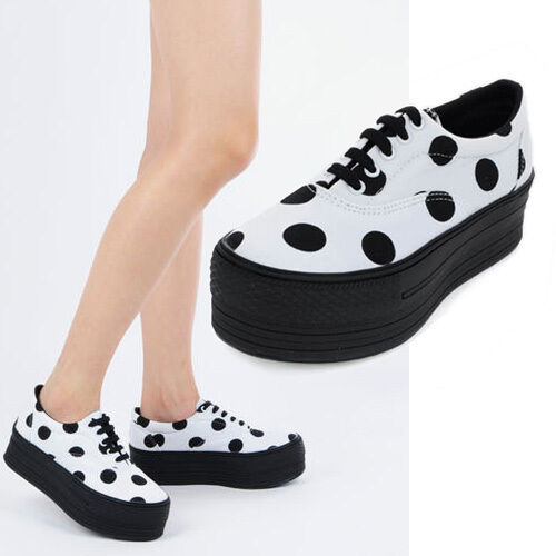 New Women's MAXSTAR Platform Dot Sneakers Heel High Top Fashion Sneakers shoes