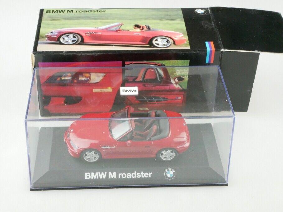 Minichamps 1 43 BMW Z3 M Roadster selten rot Händlerotition mit Box 512808