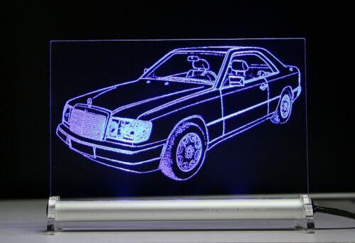LED-Insegna luminosa inciso è w124 c124 COUPE 300 CE 24 DB come incisione 200 230