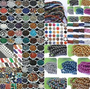 Wholesale-Lot-Natural-Gemstone-Round-Spacer-Loose-Beads-4MM-6MM-8MM-10MM-12MM