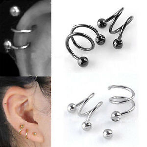 2Pc-Twist-Spiral-Helix-Ear-Stud-Earrings-Ring-Cartilage-Body-Piercing-Jewelry-AU