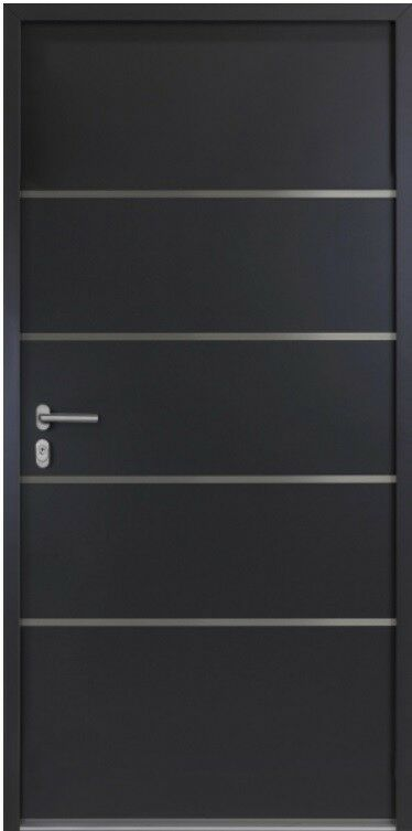 Kellertür-Garagentür-Nebeneingangstür 56mm Sonderpreis  NBT 02 Anthrazit