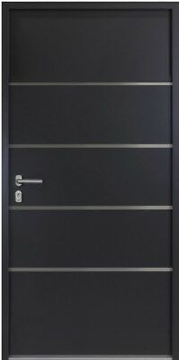 Anthrazit Kellertür-Garagentür-Nebeneingangstür 56mm Sonderpreis  NBT 02 Weiss