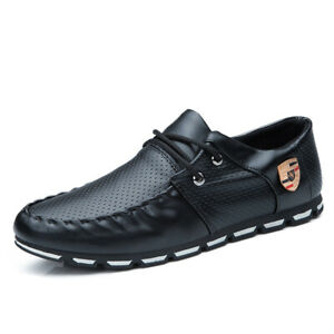 Fashion-Mens-Flat-Lace-Up-Breathable-Loafers-Casual-Lazy-Driving-Moccasins-Shoes
