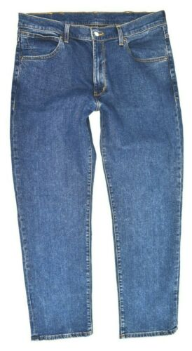 Mens Wrangler Arizona Straight Stretch Fit Jeans /'Flanker Blue/' SECONDS WA169