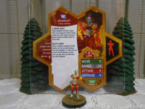 Heroscape Custom Deadshot Double Sided Card & Fig  DC Suicide Squad Checkmate