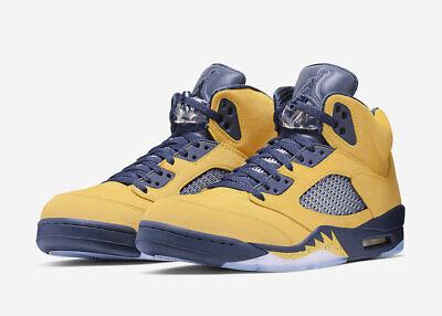 more photos 5d948 6c082 Nike Air Jordan 5 Retro SE SZ 13 Michigan Fab Five Armarillo Yellow  CQ9541-704 | eBay