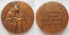 n.29 medaglia ricordo templi Abu Simbel Egitto 1968 60mm fdc