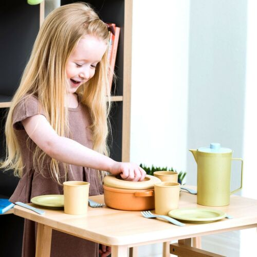 Kinder Schule Spielzeug Dantoy BIO PLAST Kaffeeservice 17 tlg