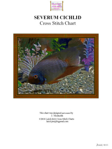 SEVERUM CICHLID cross stitch chart